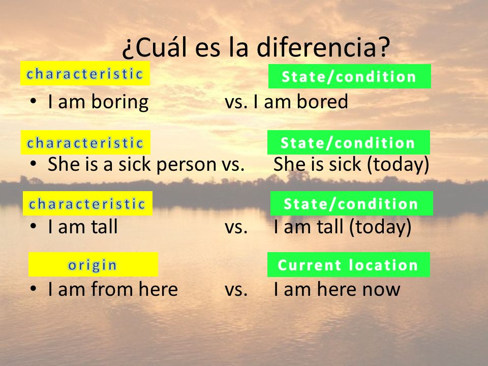 ¿Cuál es la diferencia I am boring vs. I am bored