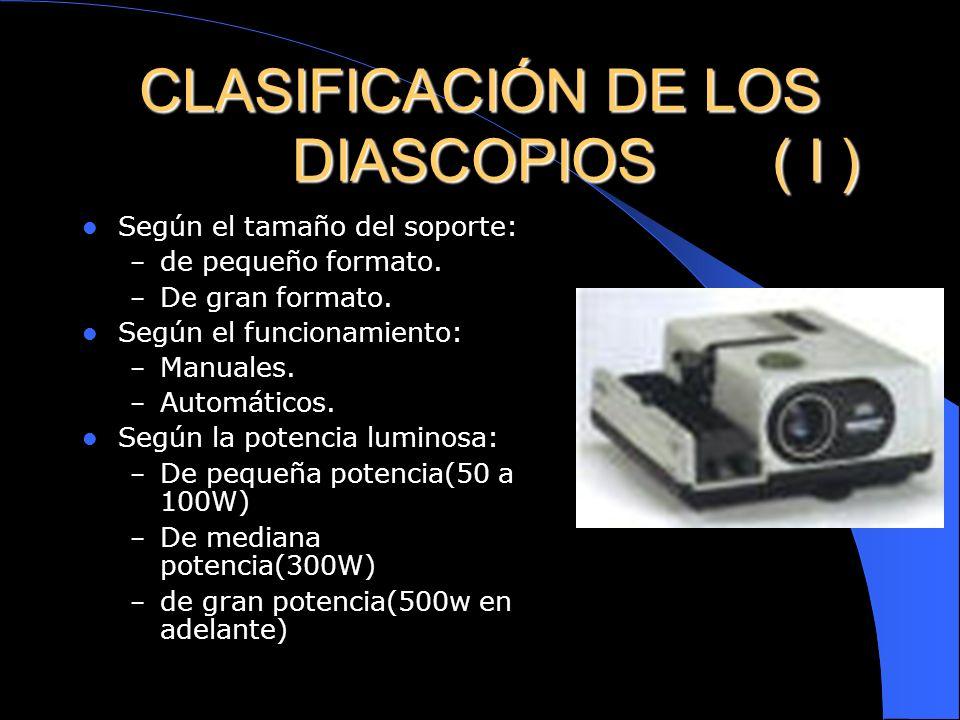 CLASIFICACIÓN DE LOS DIASCOPIOS ( I )