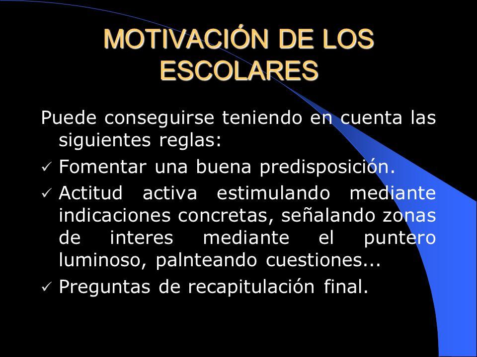 MOTIVACIÓN DE LOS ESCOLARES