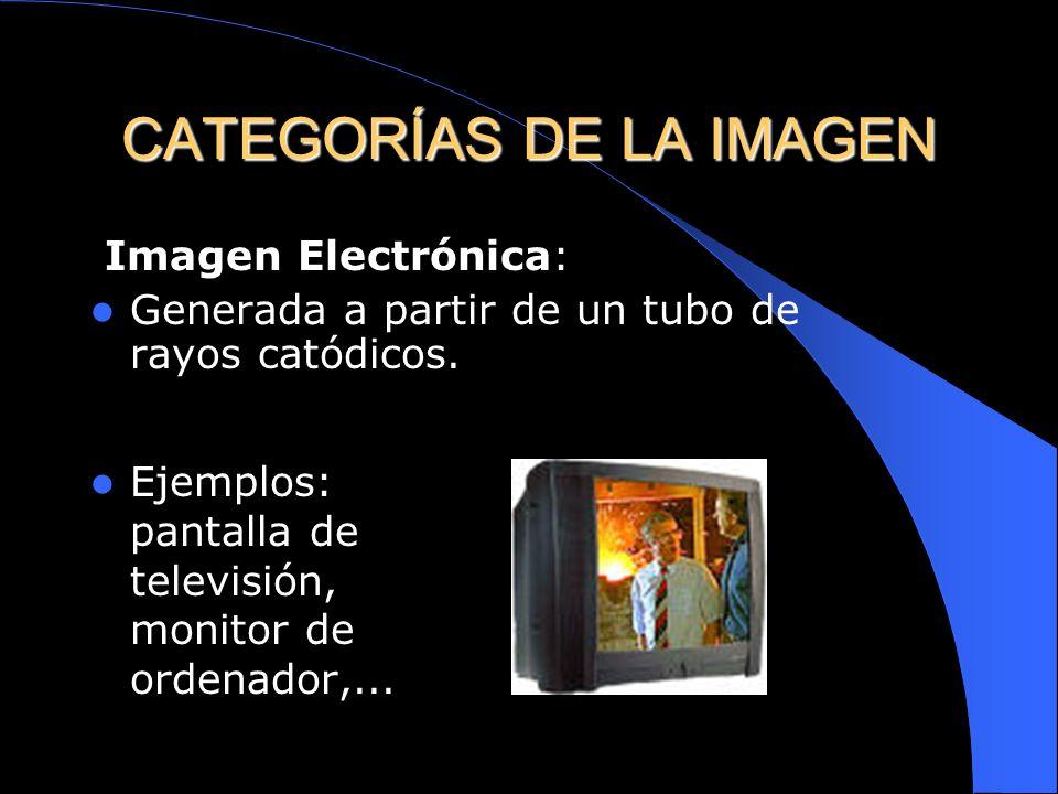CATEGORÍAS DE LA IMAGEN