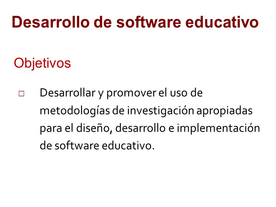 Desarrollo de software educativo