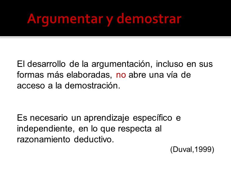 Argumentar y demostrar