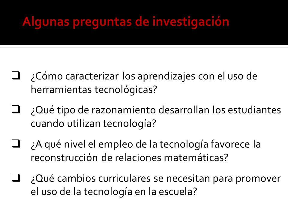 Algunas preguntas de investigación