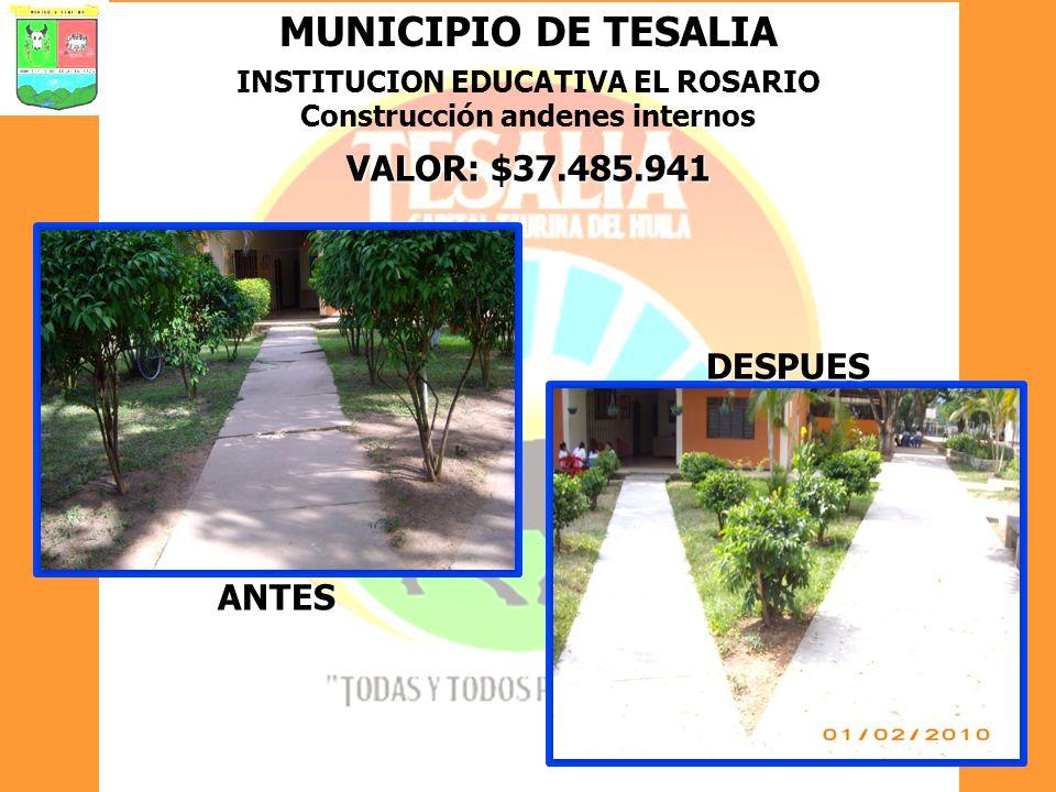 INSTITUCION EDUCATIVA EL ROSARIO Construcción andenes internos