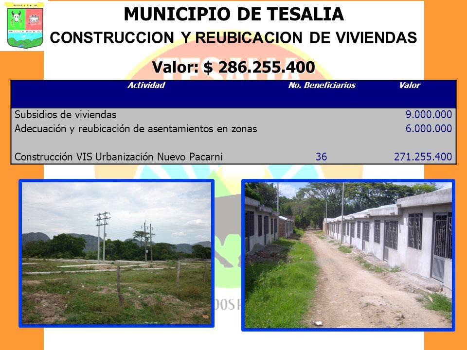 CONSTRUCCION Y REUBICACION DE VIVIENDAS