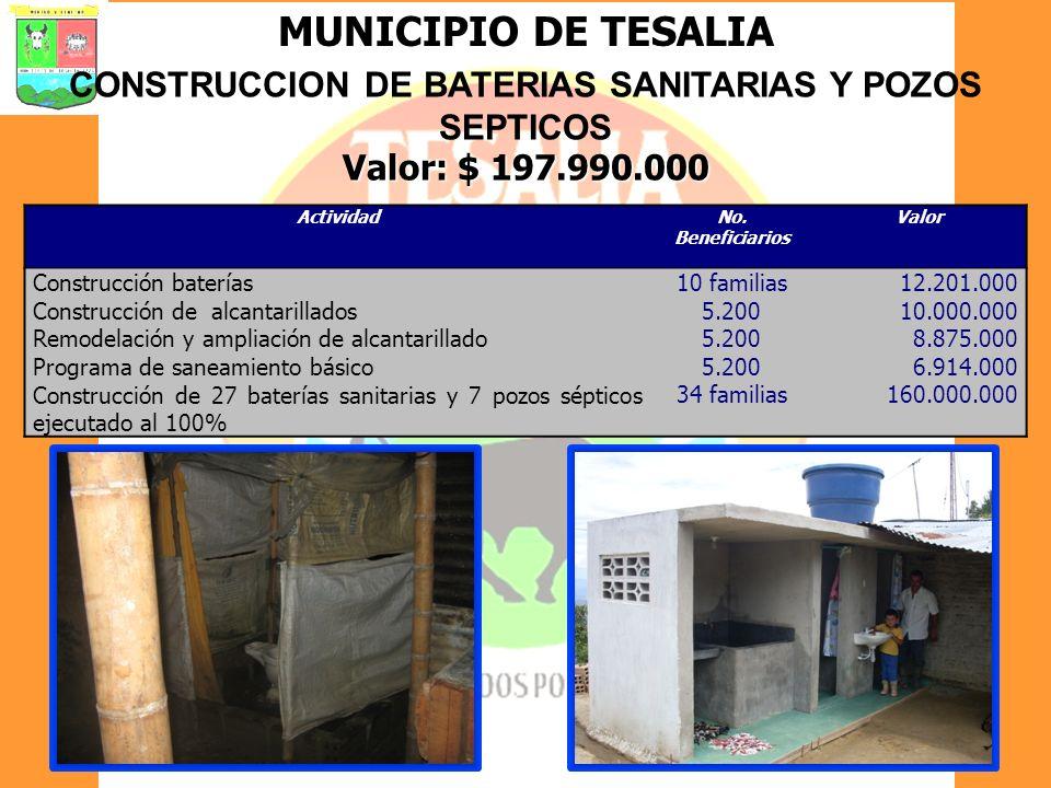 CONSTRUCCION DE BATERIAS SANITARIAS Y POZOS SEPTICOS