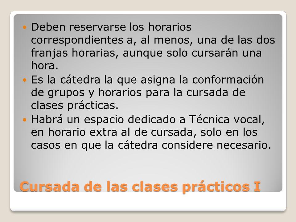 Cursada de las clases prácticos I