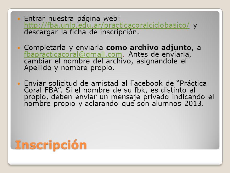 Entrar nuestra página web: http://fba. unlp. edu