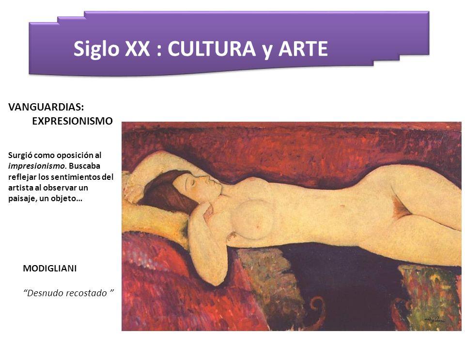 Siglo XX : CULTURA y ARTE