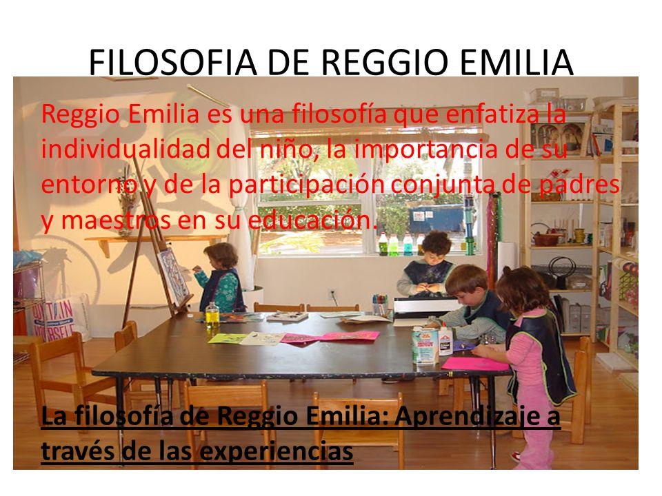 FILOSOFIA DE REGGIO EMILIA
