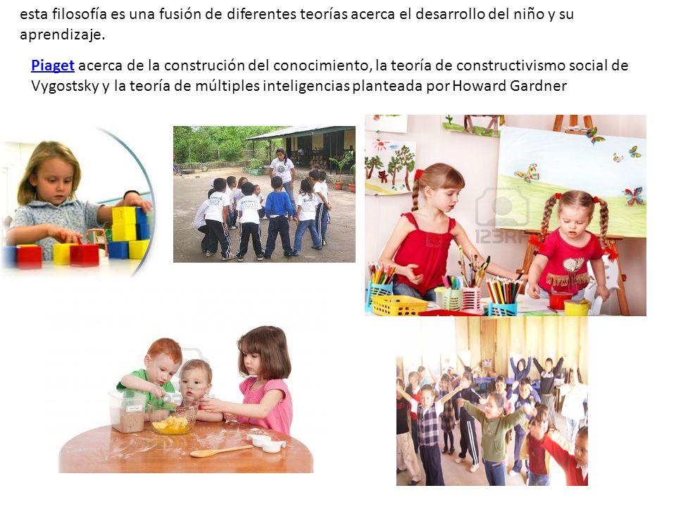 esta filosofía es una fusión de diferentes teorías acerca el desarrollo del niño y su aprendizaje.