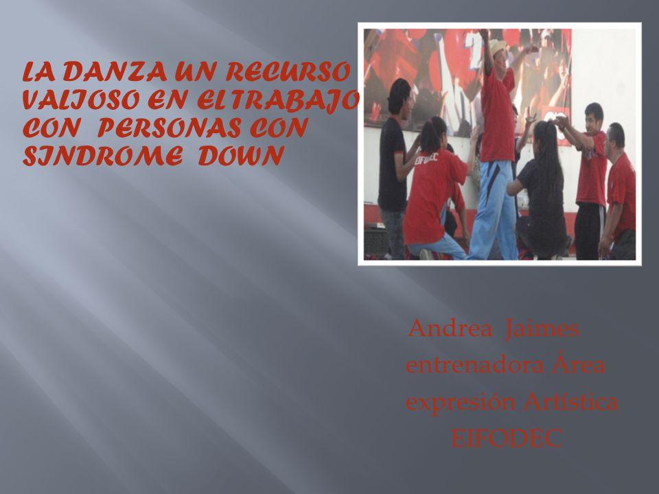 Andrea Jaimes entrenadora Área expresión Artística EIFODEC