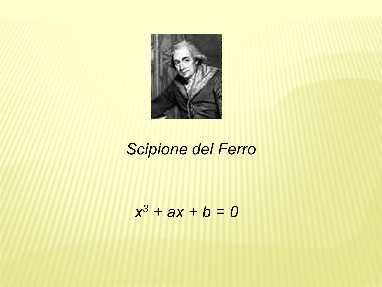 Scipione del Ferro x3 + ax + b = 0