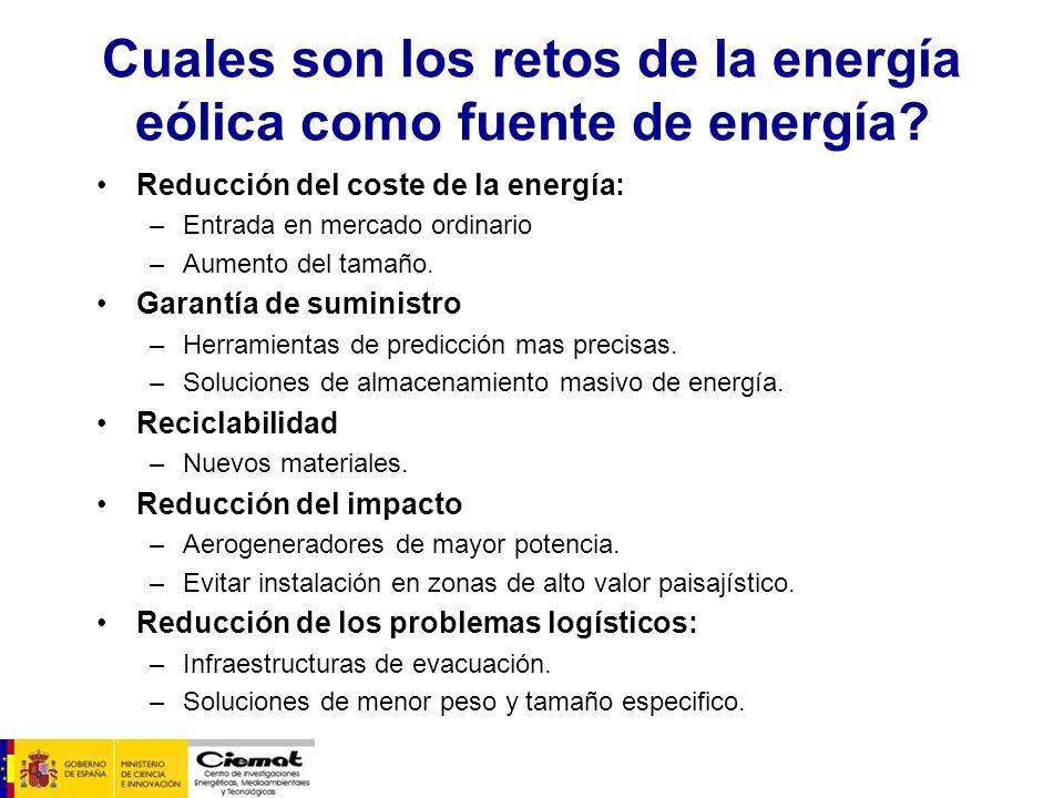 Cuales son los retos de la energía eólica como fuente de energía