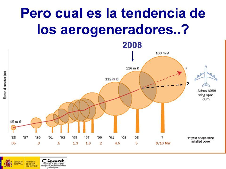 Pero cual es la tendencia de los aerogeneradores..