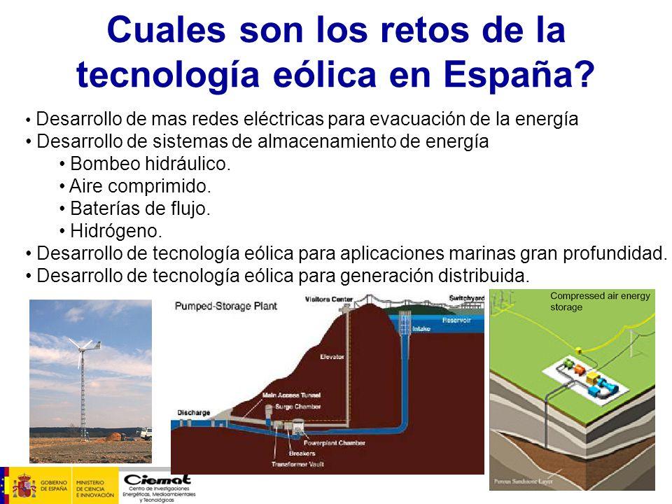 Cuales son los retos de la tecnología eólica en España