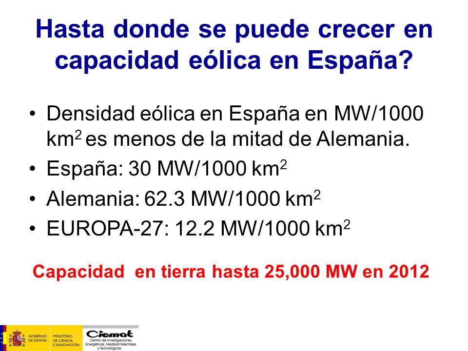 Hasta donde se puede crecer en capacidad eólica en España