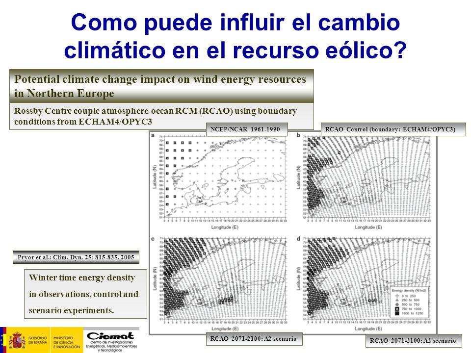 Como puede influir el cambio climático en el recurso eólico