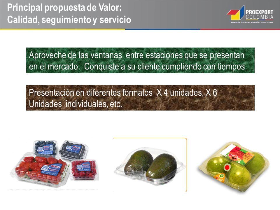 Principal propuesta de Valor: Calidad, seguimiento y servicio