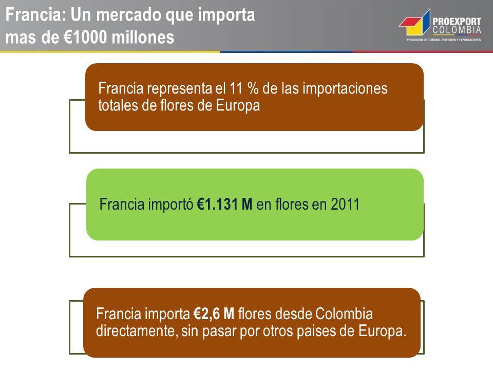 Francia: Un mercado que importa mas de €1000 millones