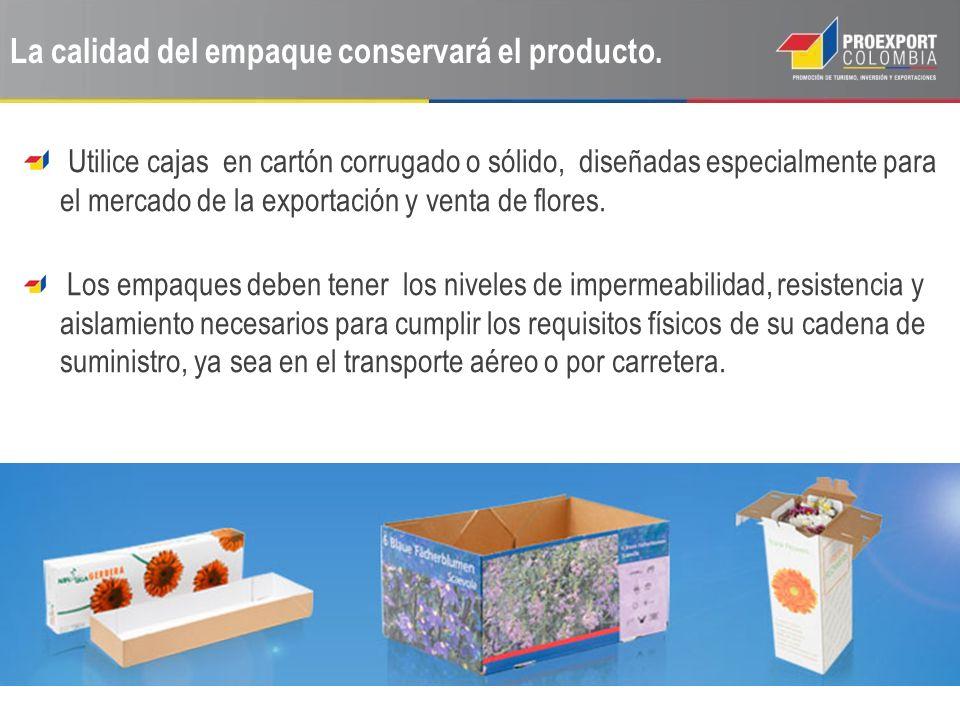 La calidad del empaque conservará el producto.