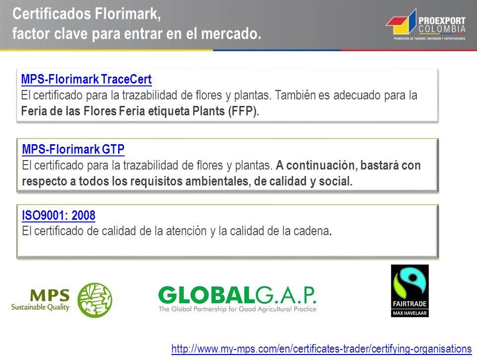 Certificados Florimark, factor clave para entrar en el mercado.