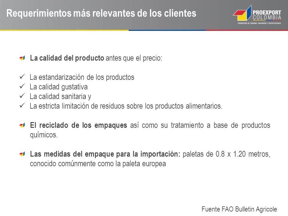 Requerimientos más relevantes de los clientes