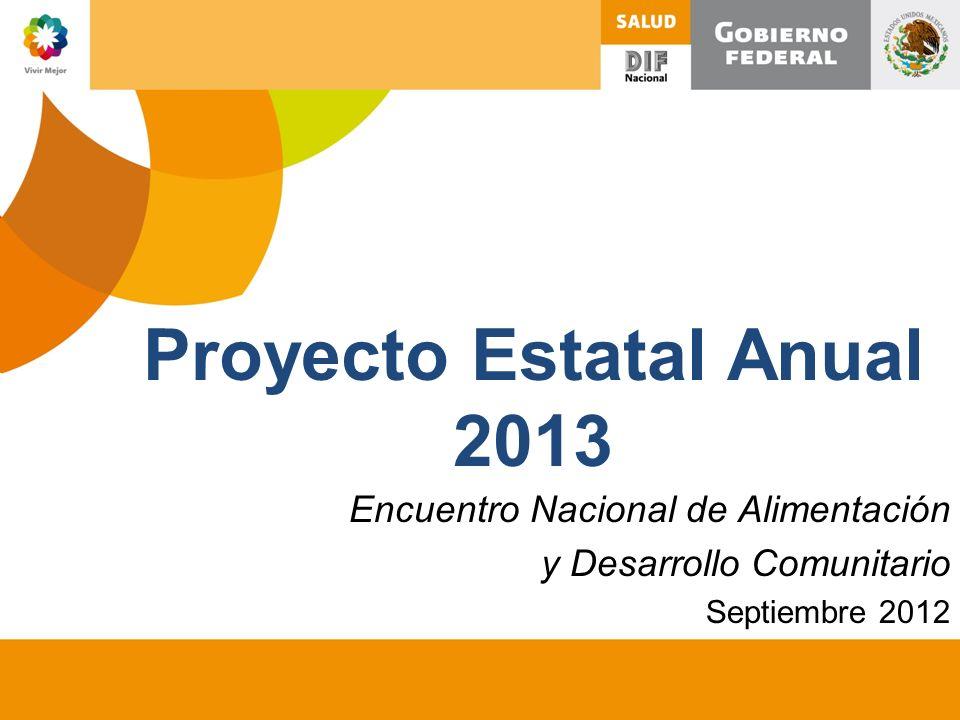 Proyecto Estatal Anual 2013