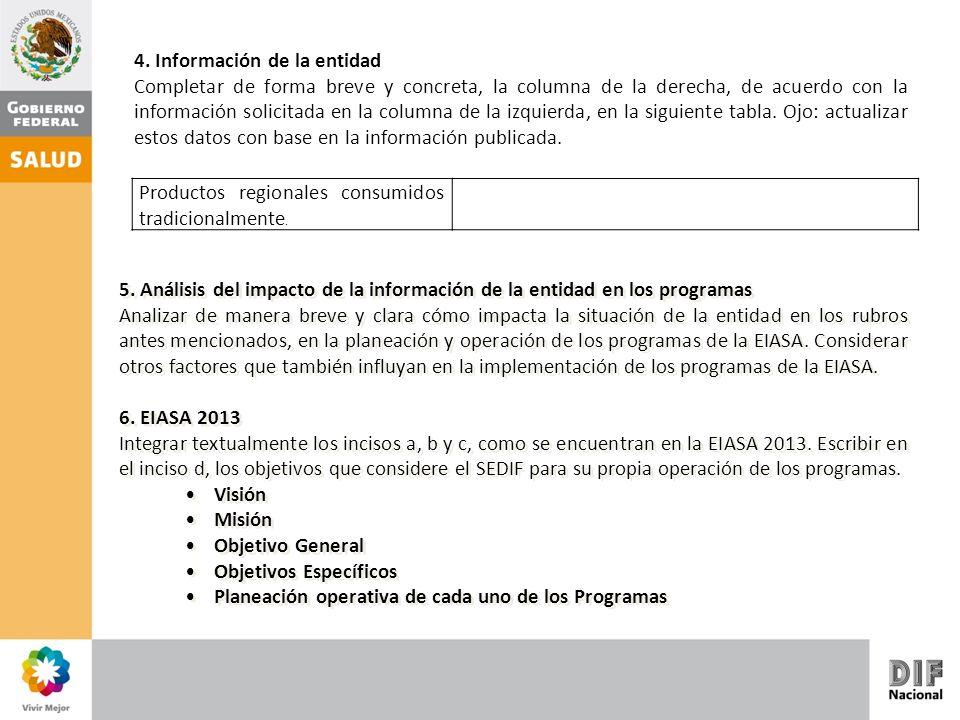 4. Información de la entidad