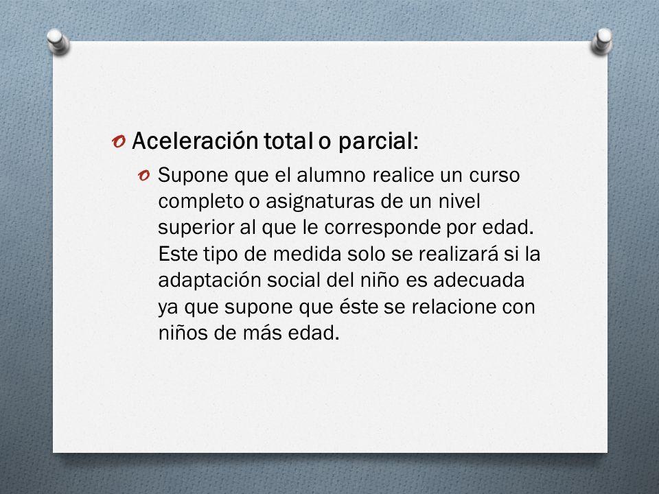Aceleración total o parcial: