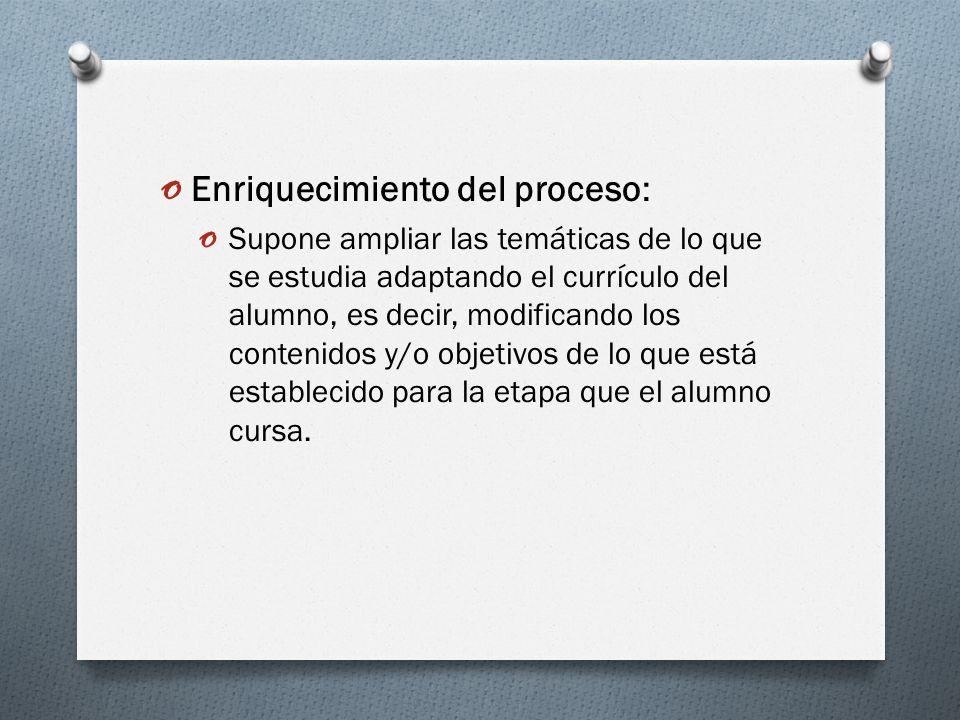 Enriquecimiento del proceso: