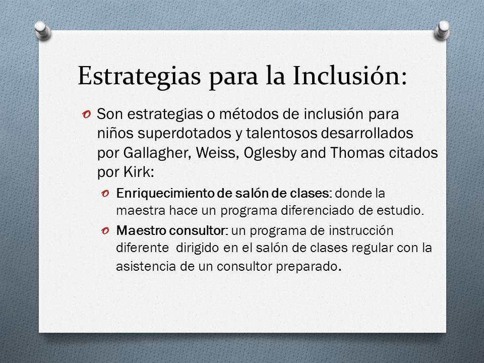 Estrategias para la Inclusión:
