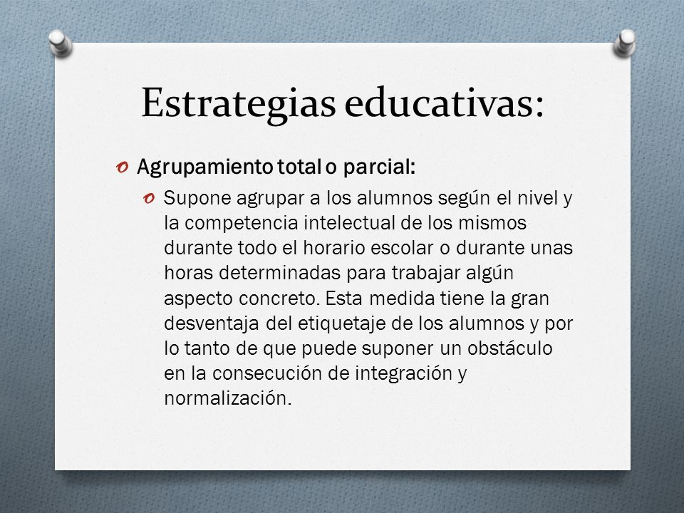 Estrategias educativas: