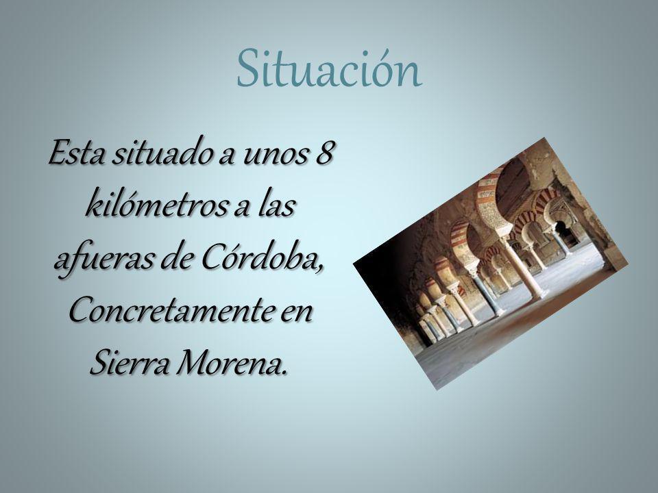 Situación Esta situado a unos 8 kilómetros a las afueras de Córdoba, Concretamente en Sierra Morena.