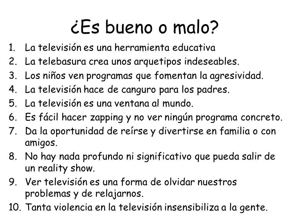 ¿Es bueno o malo La televisión es una herramienta educativa