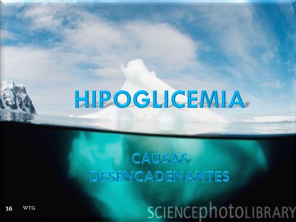 HIPOGLICEMIA CAUSAS DESENCADENANTES WTG