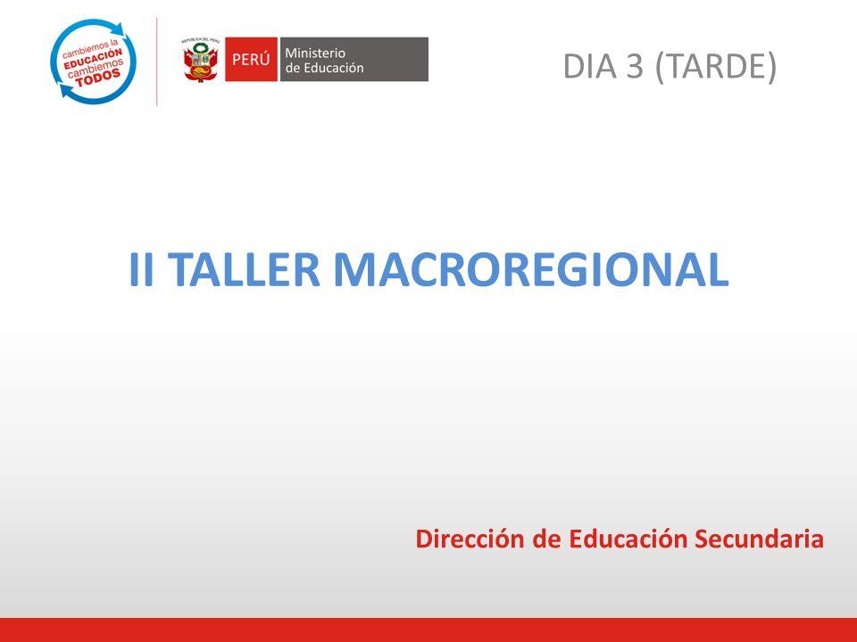II TALLER MACROREGIONAL