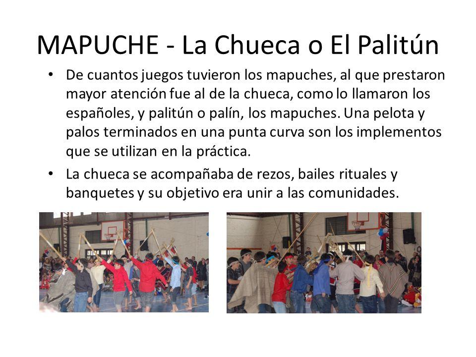 MAPUCHE - La Chueca o El Palitún