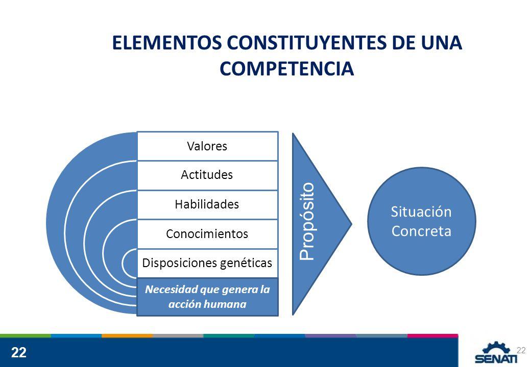 ELEMENTOS CONSTITUYENTES DE UNA COMPETENCIA