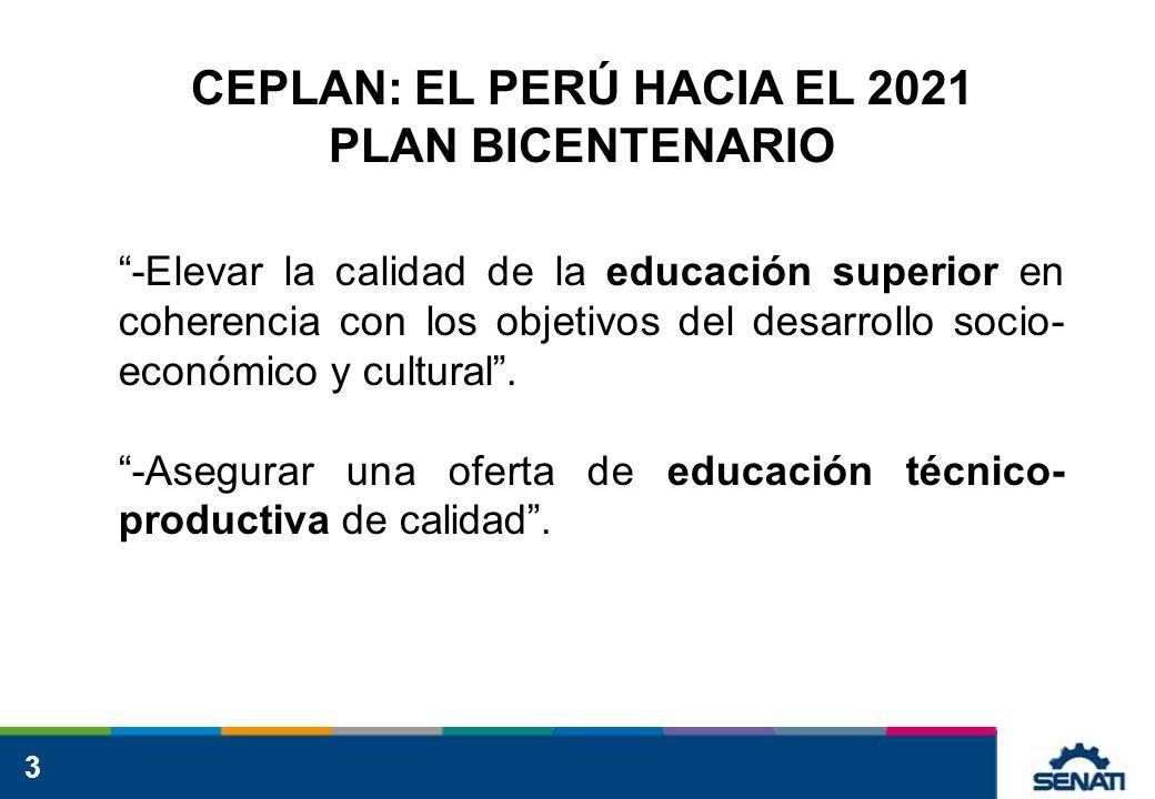 CEPLAN: EL PERÚ HACIA EL 2021