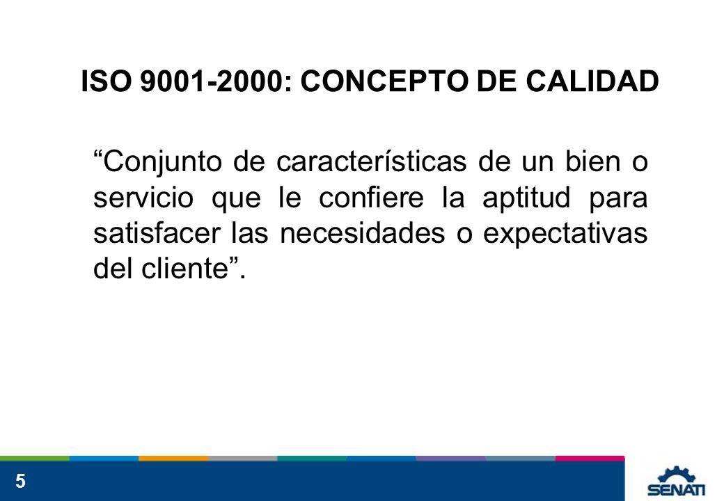 ISO 9001-2000: CONCEPTO DE CALIDAD