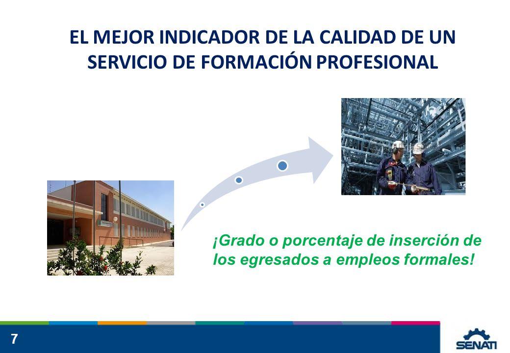 EL MEJOR INDICADOR DE LA CALIDAD DE UN SERVICIO DE FORMACIÓN PROFESIONAL