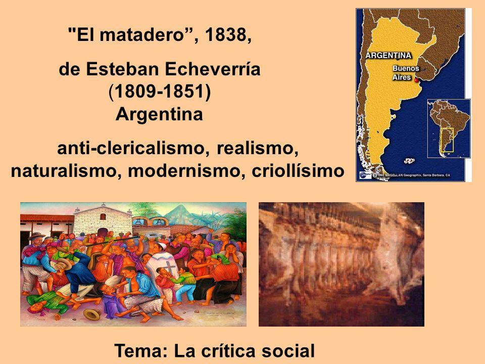 de Esteban Echeverría (1809-1851) Argentina