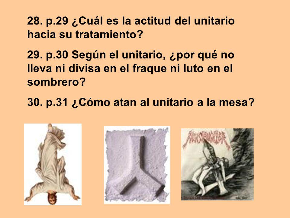28. p.29 ¿Cuál es la actitud del unitario hacia su tratamiento