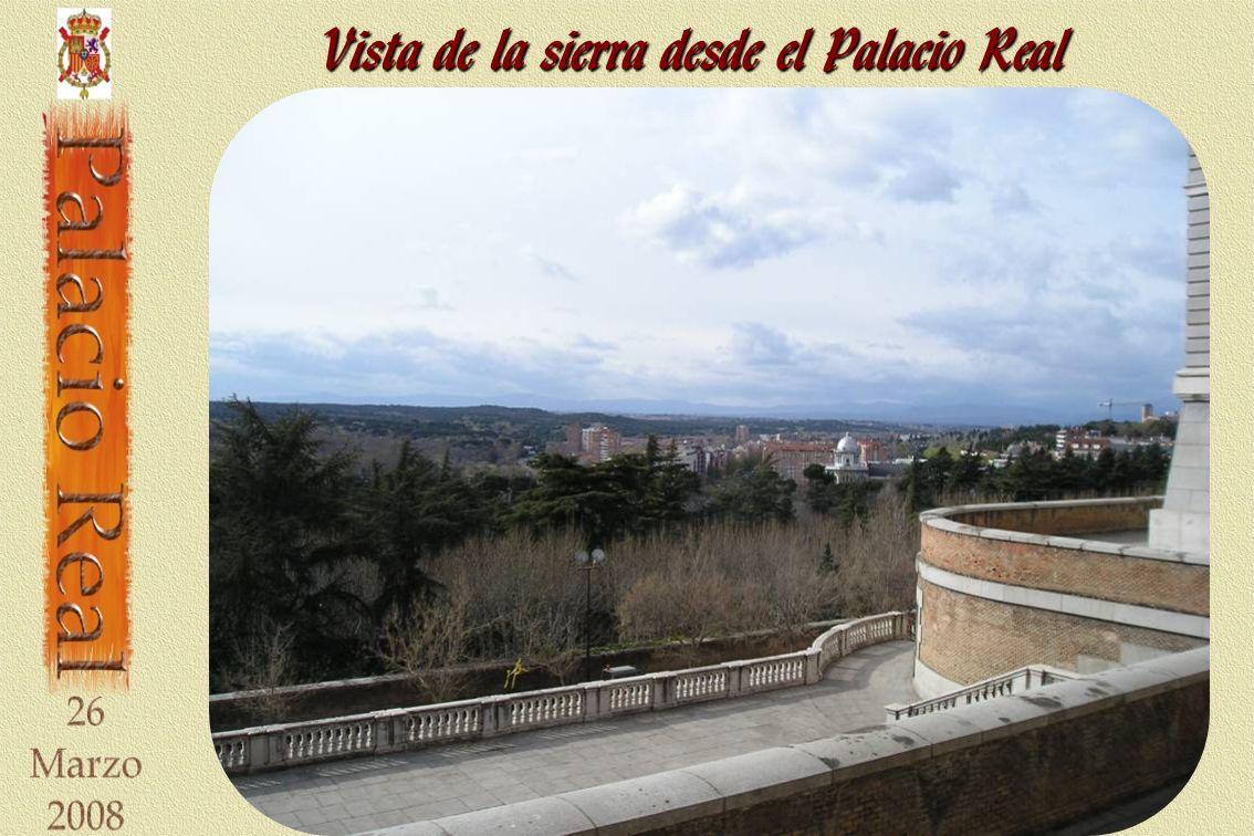Vista de la sierra desde el Palacio Real