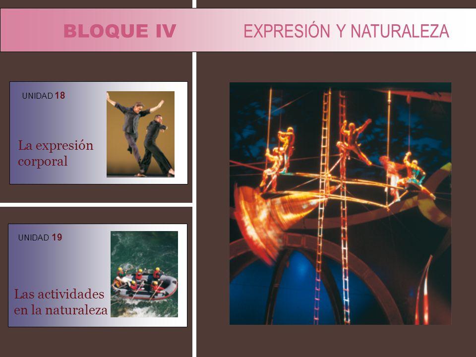 BLOQUE IV EXPRESIÓN Y NATURALEZA
