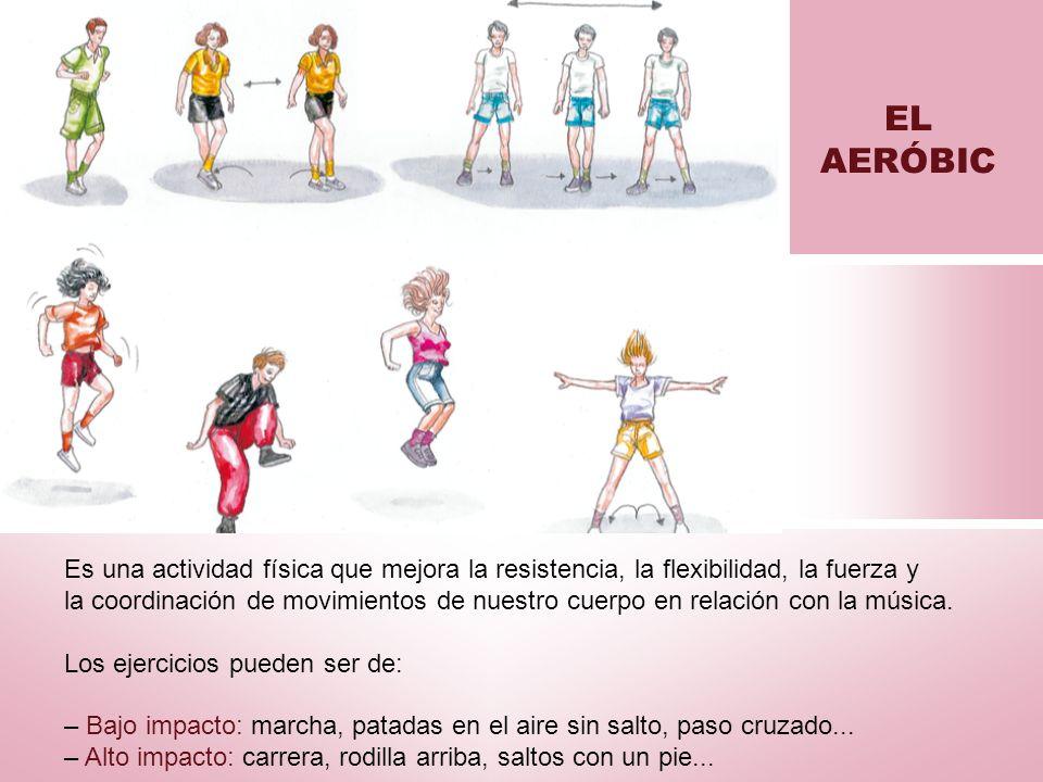 EL AERÓBIC Es una actividad física que mejora la resistencia, la flexibilidad, la fuerza y.