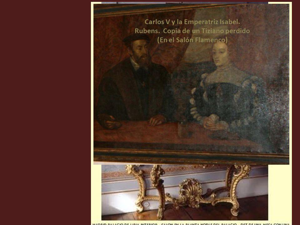 Carlos V y la Emperatriz Isabel. Rubens. Copia de un Tiziano perdido