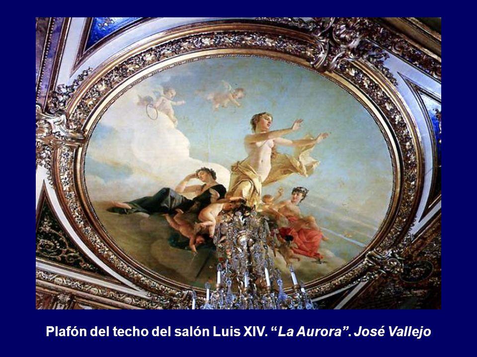 Plafón del techo del salón Luis XIV. La Aurora . José Vallejo