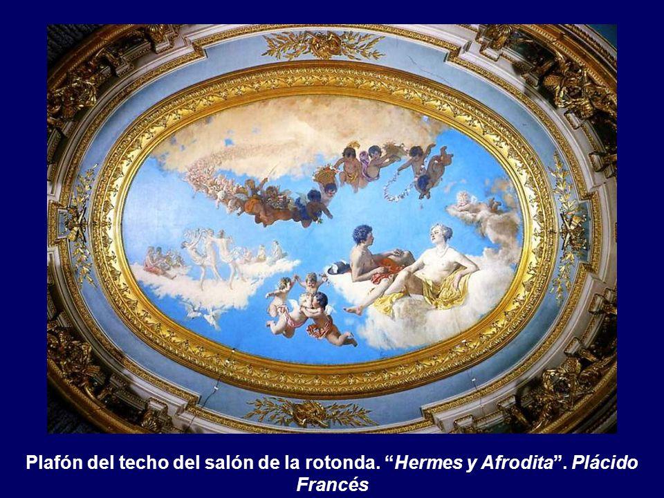 Plafón del techo del salón de la rotonda. Hermes y Afrodita